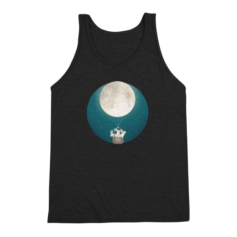 Moon Bunnies Men's Triblend Tank by lauragraves's Artist Shop