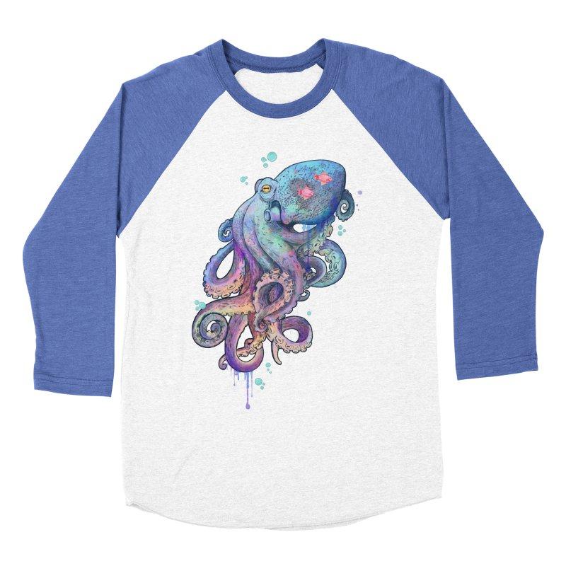 Octopus Men's Baseball Triblend T-Shirt by lauragraves's Artist Shop