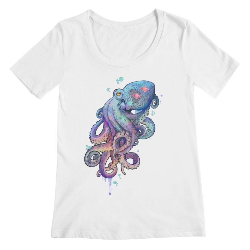 Octopus Women's Scoopneck by lauragraves's Artist Shop