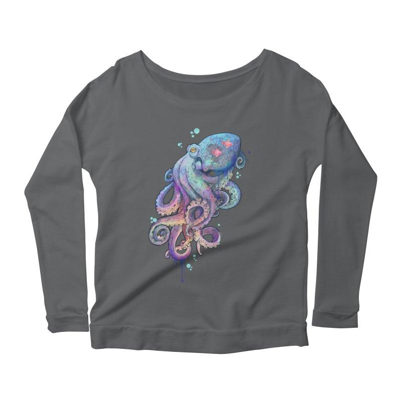 Octopus Women's Longsleeve Scoopneck  by lauragraves's Artist Shop