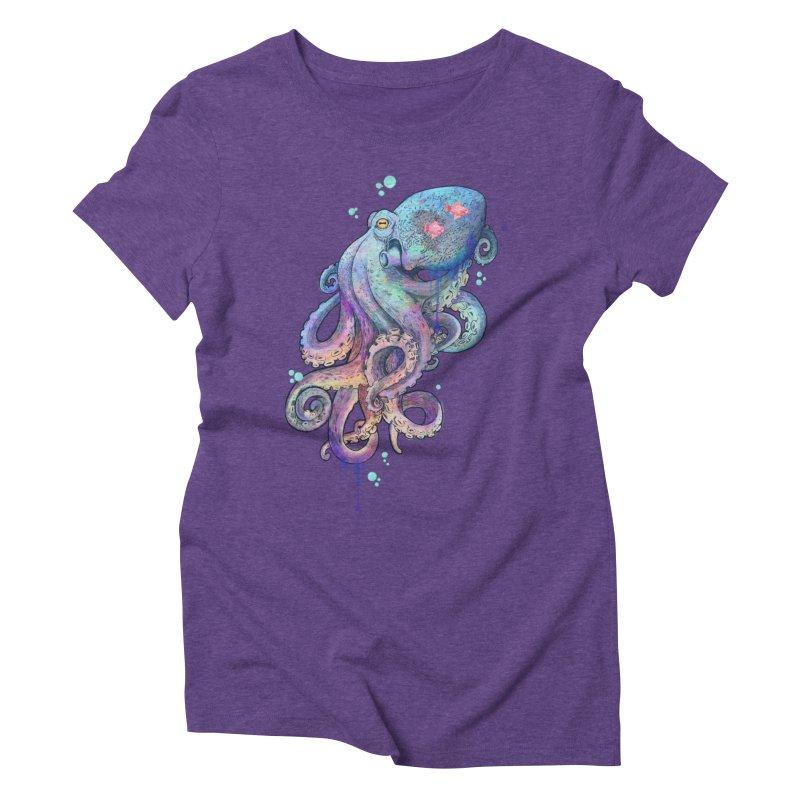 Octopus Women's Triblend T-Shirt by lauragraves's Artist Shop
