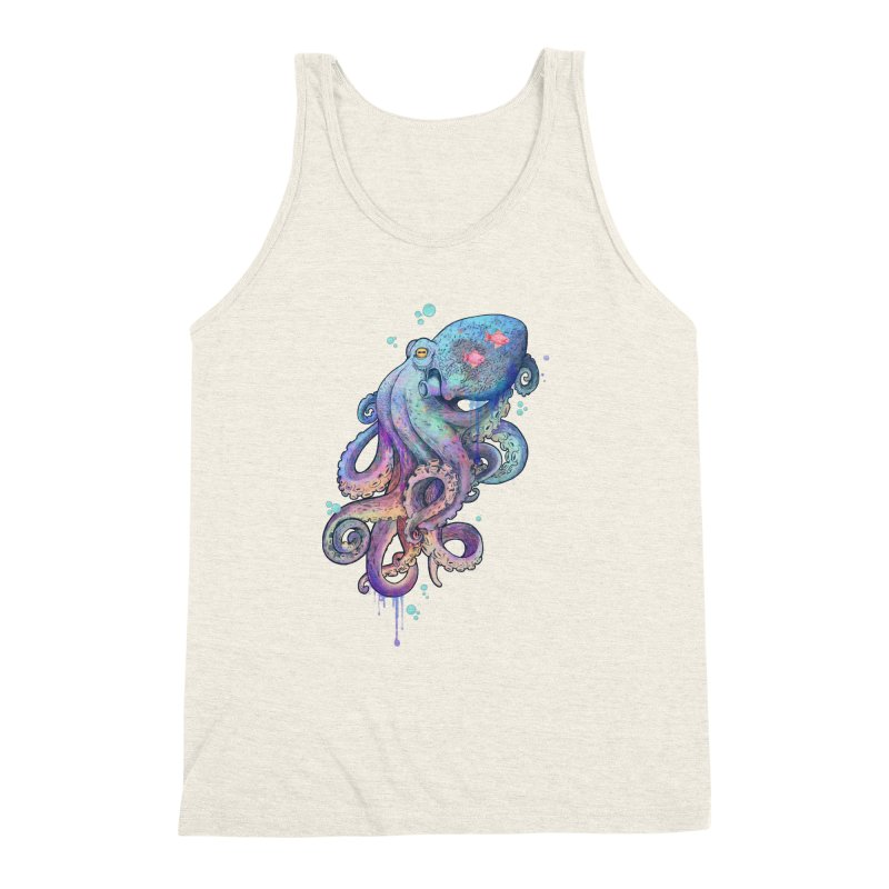 Octopus Men's Triblend Tank by lauragraves's Artist Shop