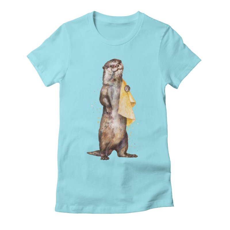 Otter Women's Fitted T-Shirt by lauragraves's Artist Shop