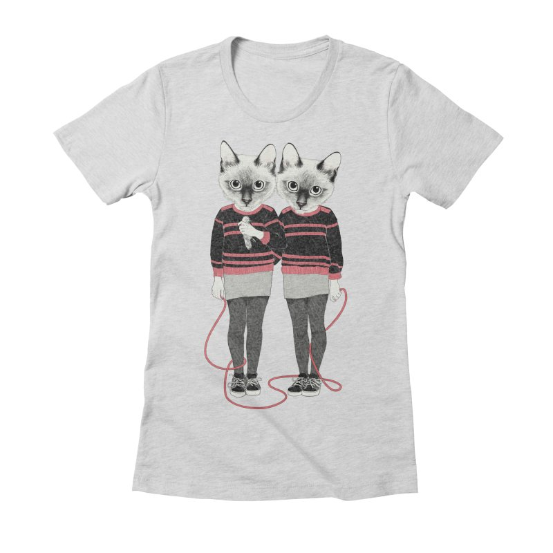 Siamese Twins Women's Fitted T-Shirt by lauragraves's Artist Shop