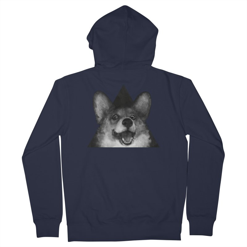 sausage fox Men's Zip-Up Hoody by lauragraves's Artist Shop