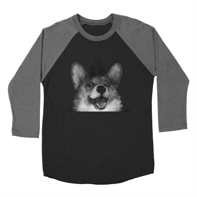sausage fox Men's Baseball Triblend T-Shirt by lauragraves's Artist Shop