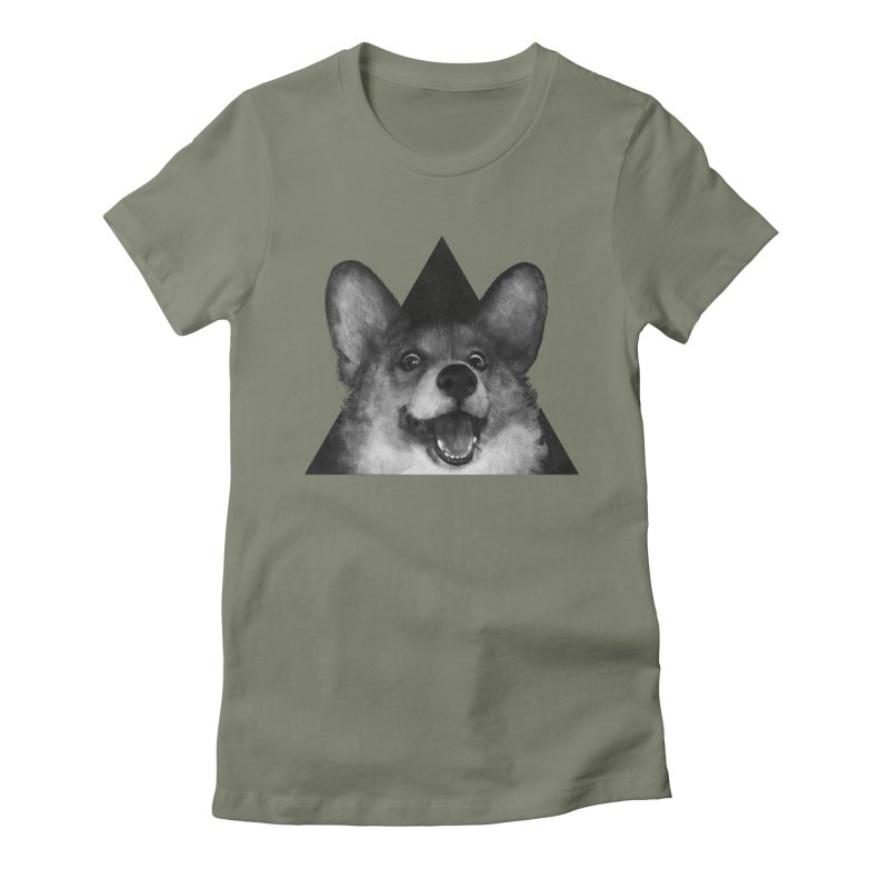 sausage fox Women's Fitted T-Shirt by lauragraves's Artist Shop