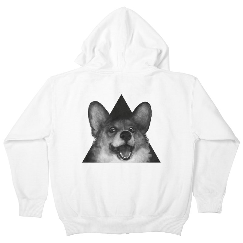 sausage fox Kids Zip-Up Hoody by lauragraves's Artist Shop