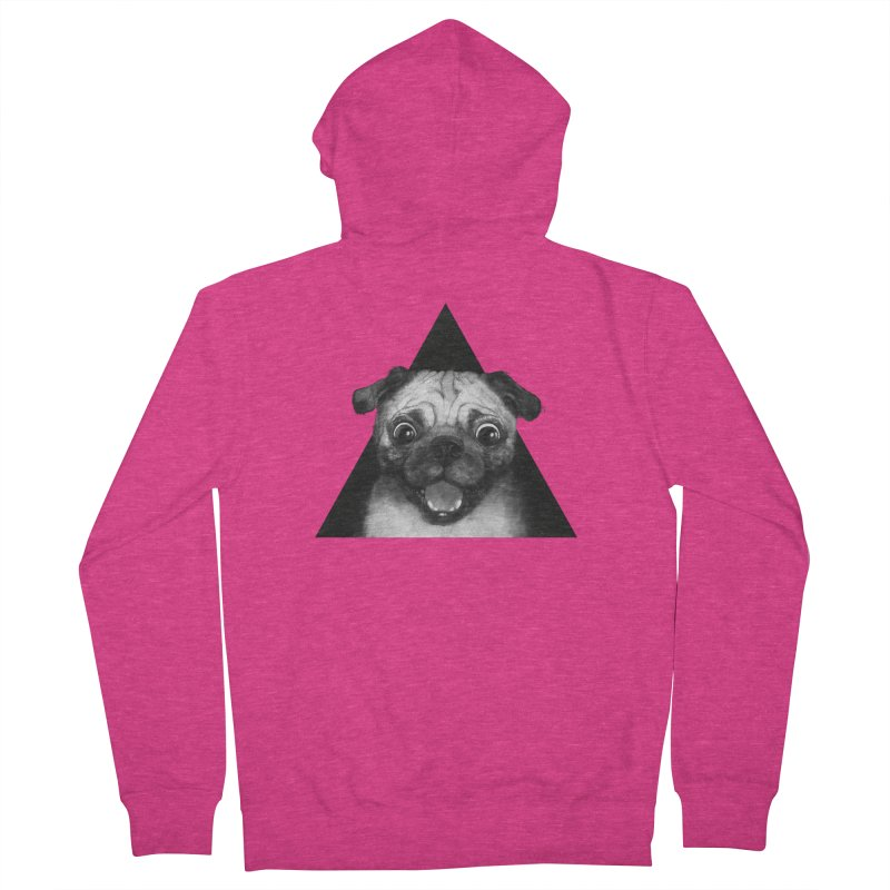 pug life Women's Zip-Up Hoody by lauragraves's Artist Shop