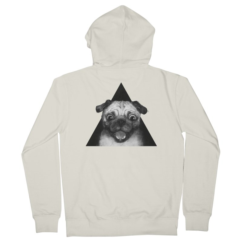 pug life Men's Zip-Up Hoody by lauragraves's Artist Shop