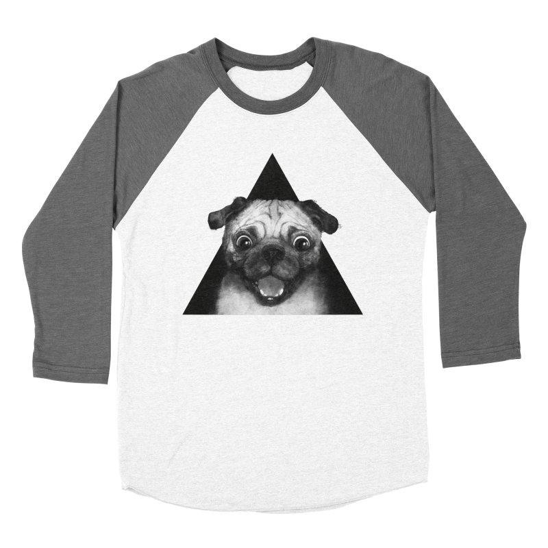 pug life Women's Baseball Triblend T-Shirt by lauragraves's Artist Shop
