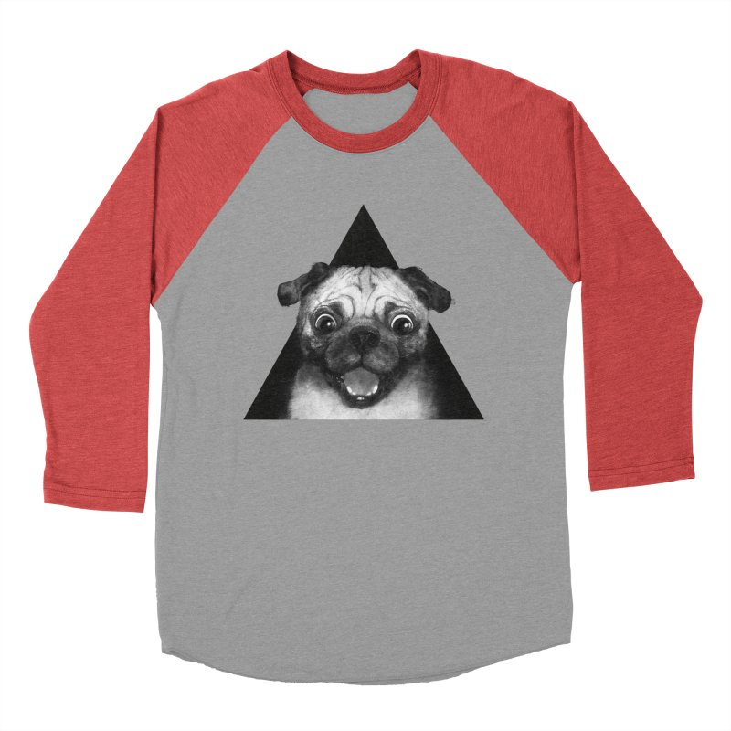 pug life Women's Baseball Triblend T-Shirt by lauragraves's Artist Shop