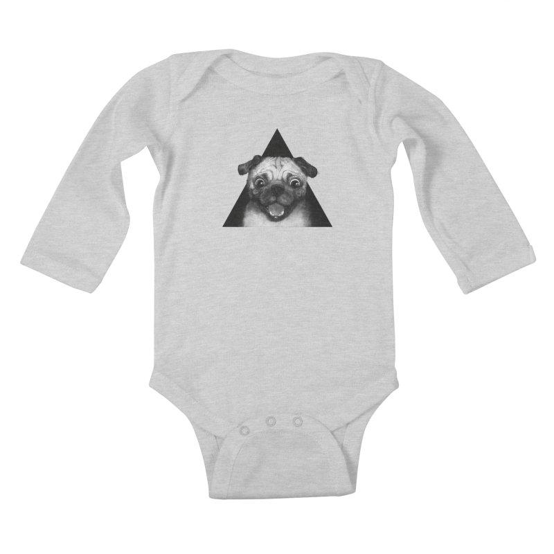 pug life Kids Baby Longsleeve Bodysuit by lauragraves's Artist Shop