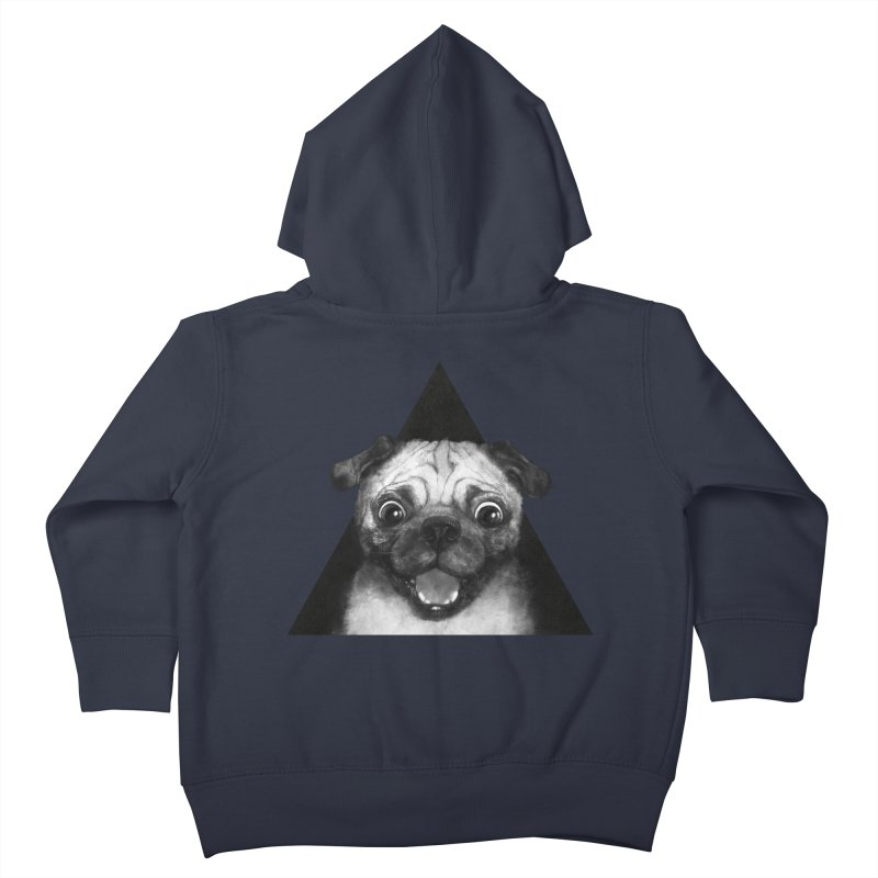 pug life Kids Toddler Zip-Up Hoody by lauragraves's Artist Shop