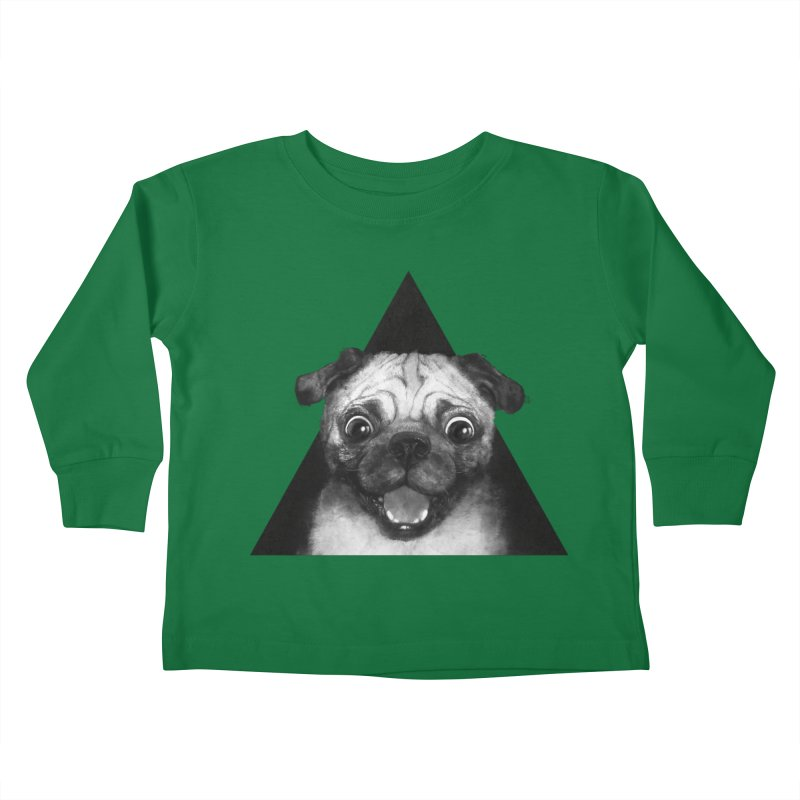 pug life Kids Toddler Longsleeve T-Shirt by lauragraves's Artist Shop