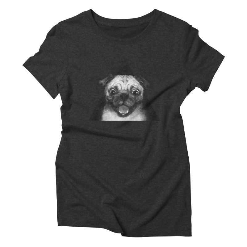 pug life Women's Triblend T-shirt by lauragraves's Artist Shop