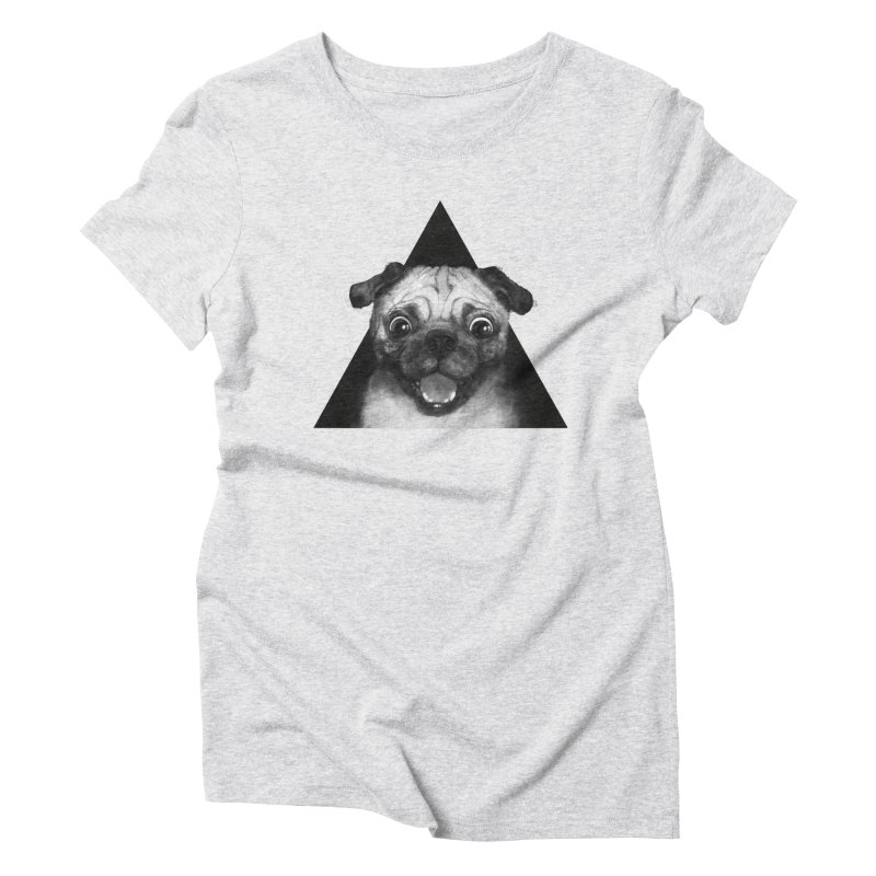 pug life Women's Triblend T-Shirt by lauragraves's Artist Shop