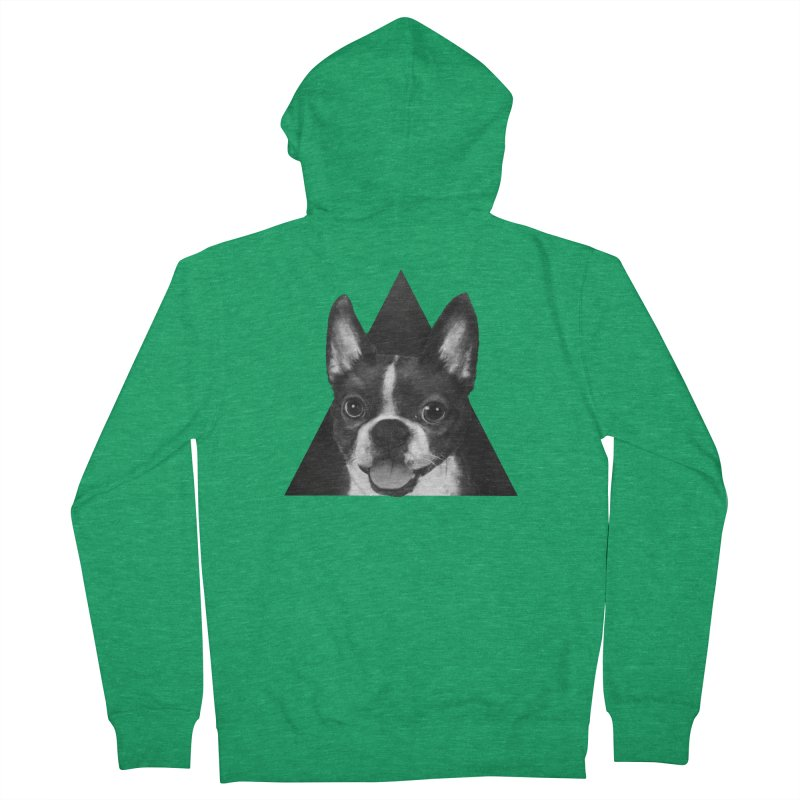 boston terrier Women's Zip-Up Hoody by lauragraves's Artist Shop