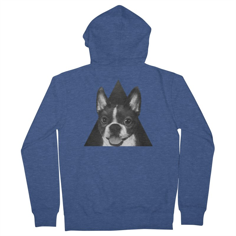 boston terrier Men's Zip-Up Hoody by lauragraves's Artist Shop