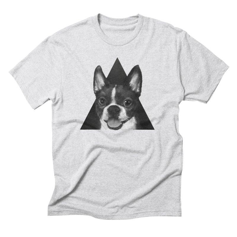 boston terrier Men's Triblend T-Shirt by lauragraves's Artist Shop