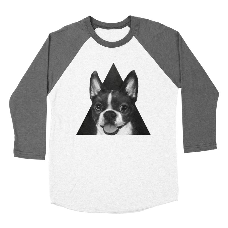 boston terrier Women's Baseball Triblend T-Shirt by lauragraves's Artist Shop