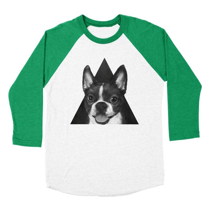 boston terrier Women's Baseball Triblend T-Shirt by lauragraves's Artist Shop