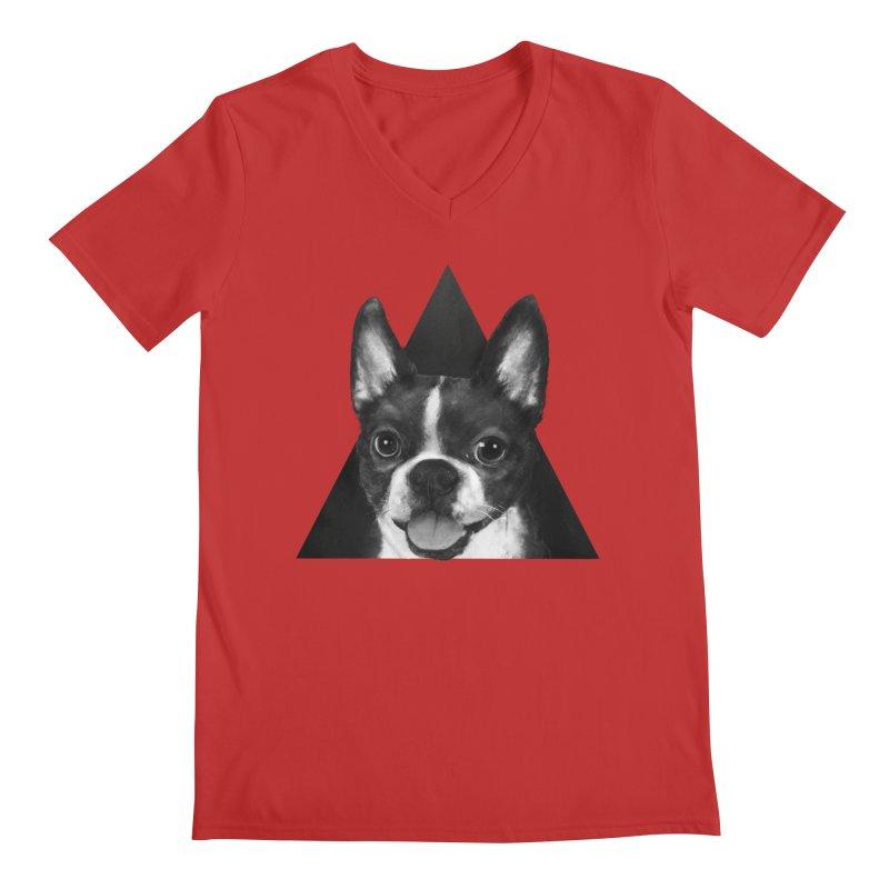 boston terrier Men's V-Neck by lauragraves's Artist Shop