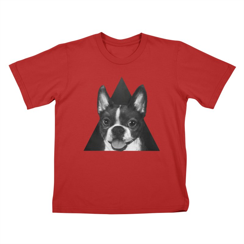 boston terrier Kids T-shirt by lauragraves's Artist Shop