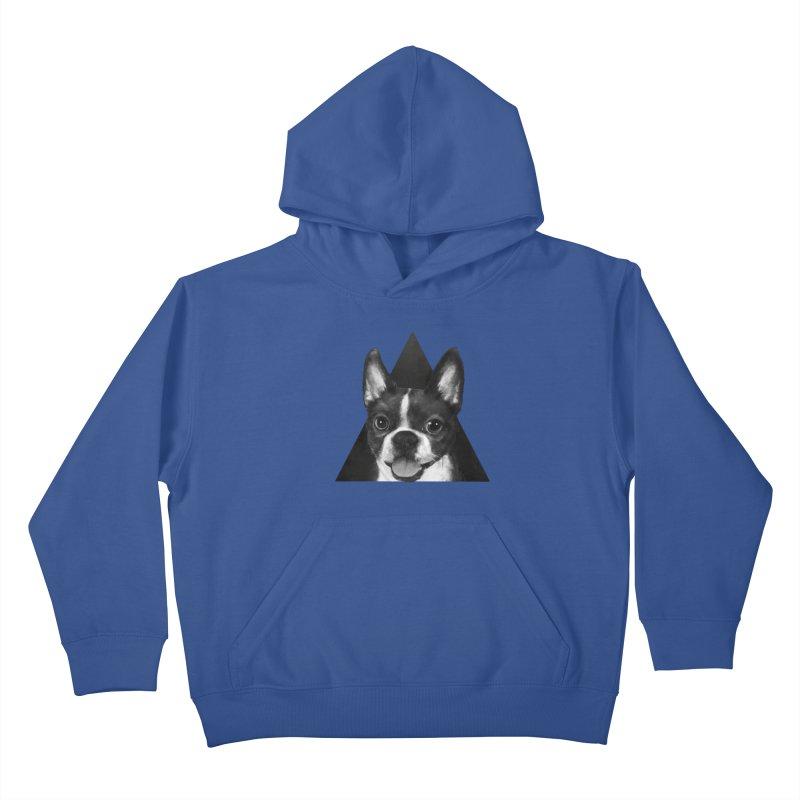 boston terrier Kids Pullover Hoody by lauragraves's Artist Shop