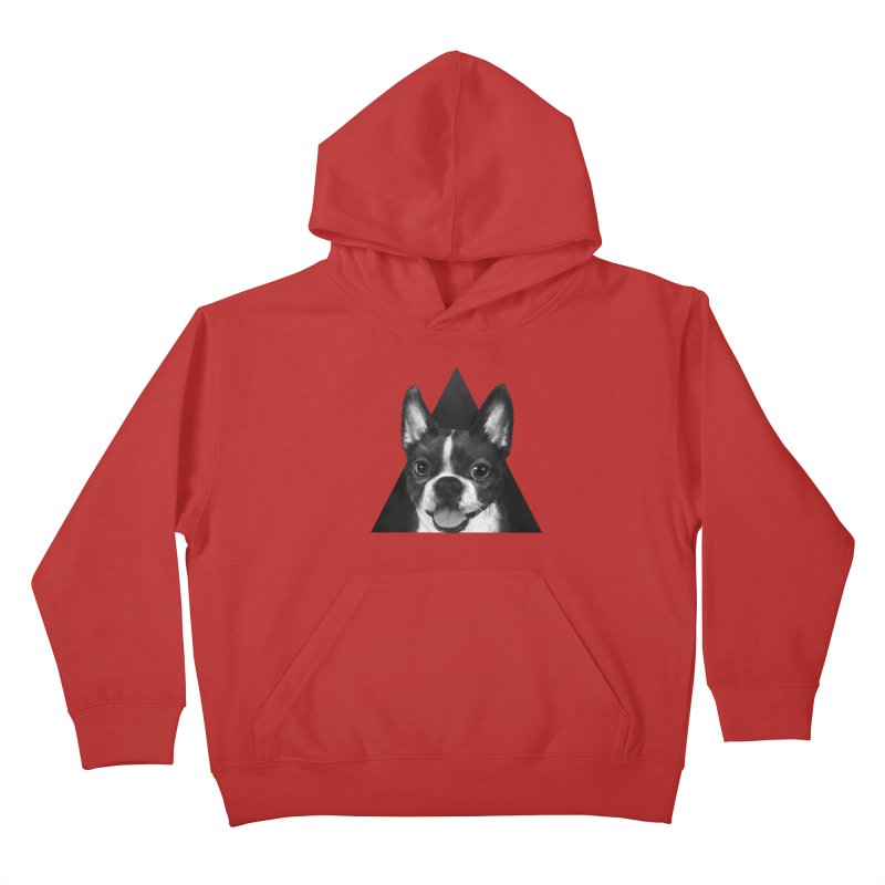boston terrier Kids Pullover Hoody by lauragraves's Artist Shop