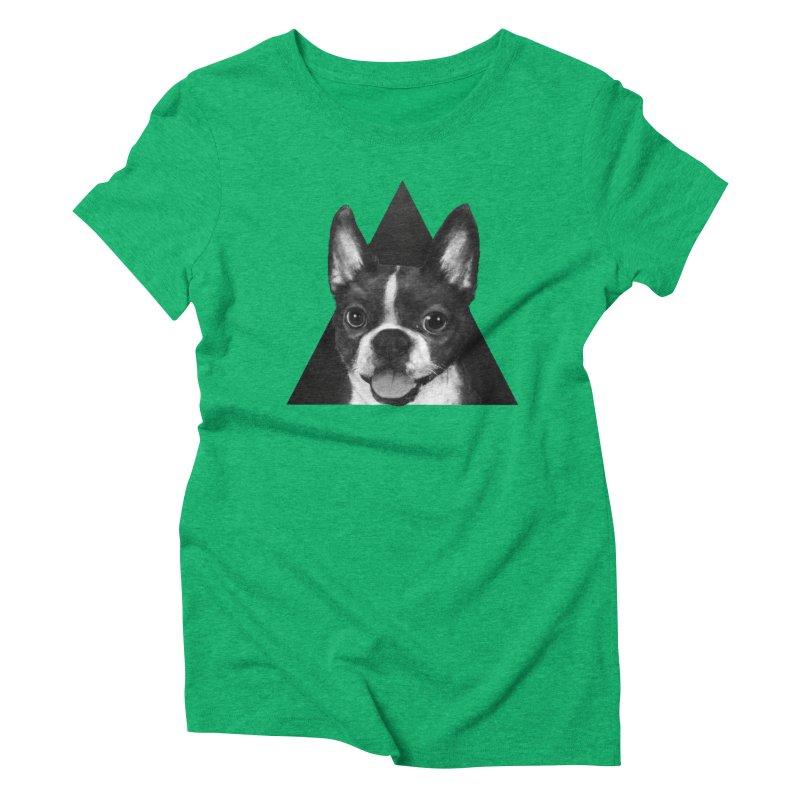 boston terrier Women's Triblend T-Shirt by lauragraves's Artist Shop