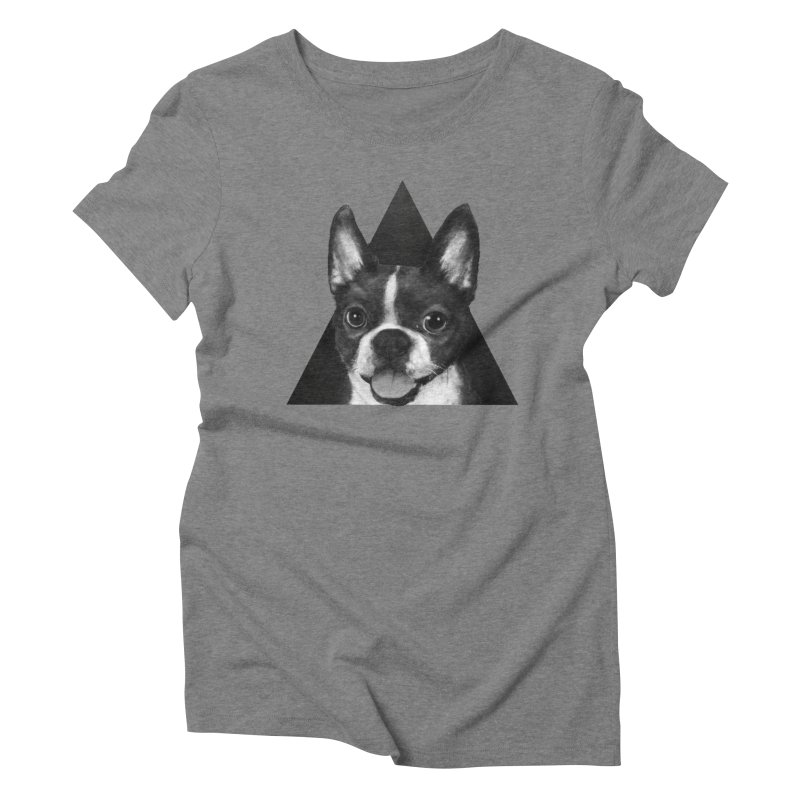 boston terrier Women's Triblend T-Shirt by lauragraves's Artist Shop