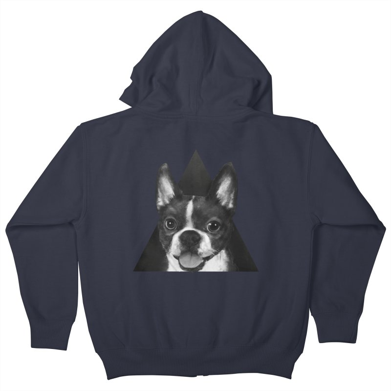 boston terrier Kids Zip-Up Hoody by lauragraves's Artist Shop