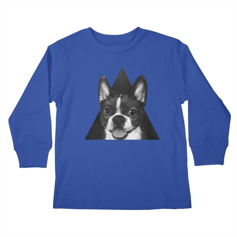 boston terrier Kids Longsleeve T-Shirt by lauragraves's Artist Shop