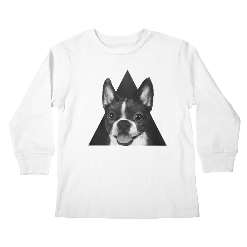 boston terrier Kids Longsleeve T-Shirt by lauragraves's Artist Shop