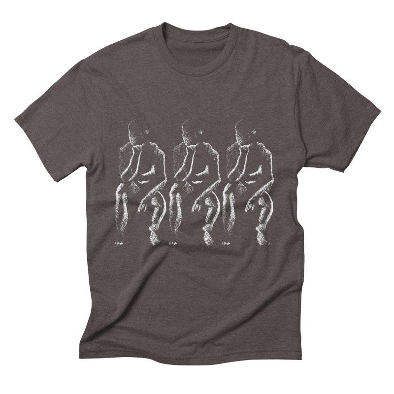 Waiting (White) Men's Triblend T-shirt by Laura OConnor's Artist Shop