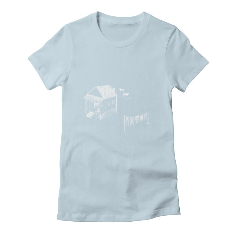 A Moment (White) Women's Fitted T-Shirt by Laura OConnor's Artist Shop