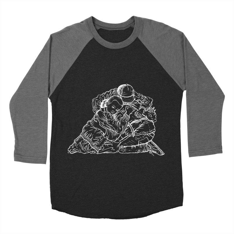Stranger Things (White) Men's Baseball Triblend T-Shirt by Laura OConnor's Artist Shop