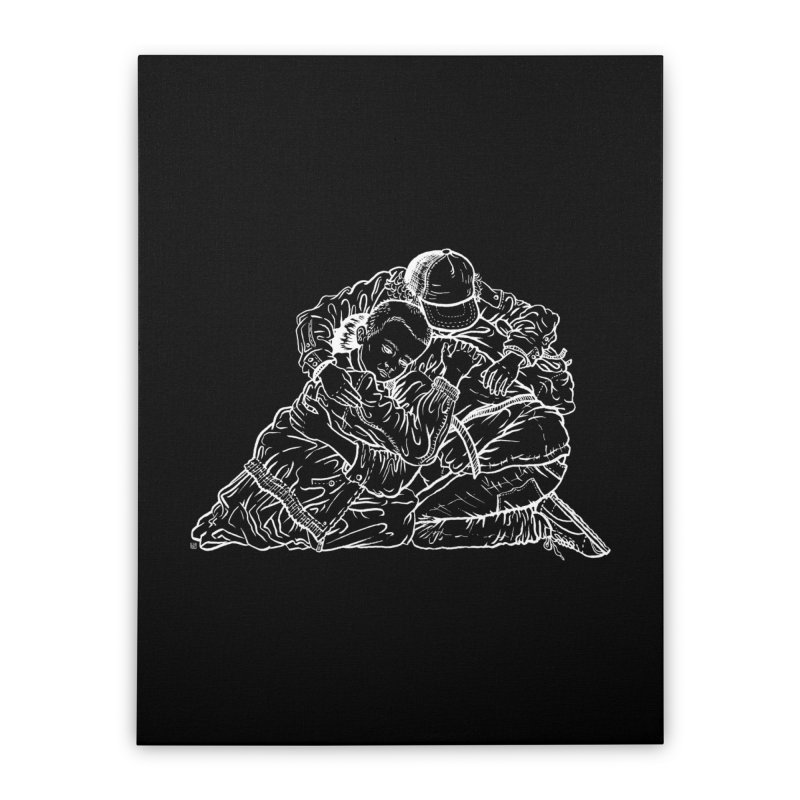 Stranger Things (White) Home Stretched Canvas by Laura OConnor's Artist Shop