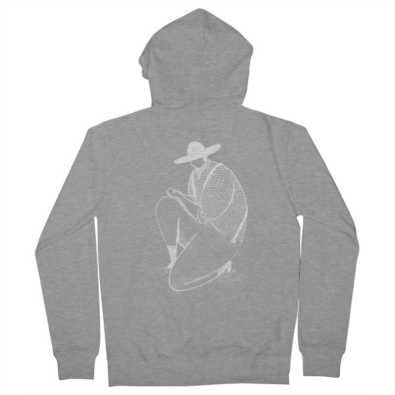 Discovery (White) Men's Zip-Up Hoody by Laura OConnor's Artist Shop