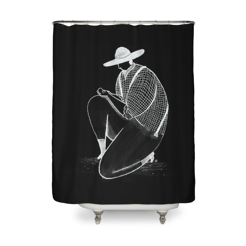 Discovery (White) Home Shower Curtain by Laura OConnor's Artist Shop
