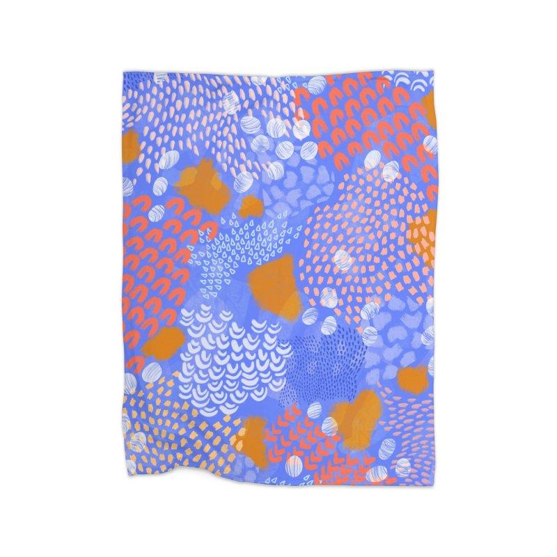 Midnight Garden Home Blanket by Laura OConnor