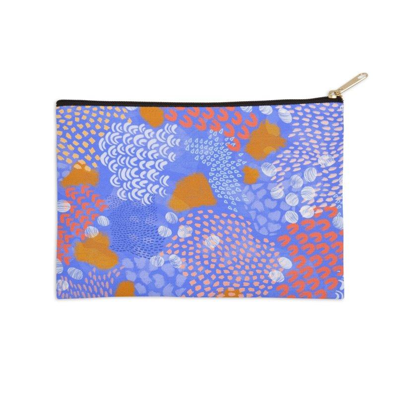 Midnight Garden Accessories Zip Pouch by Laura OConnor