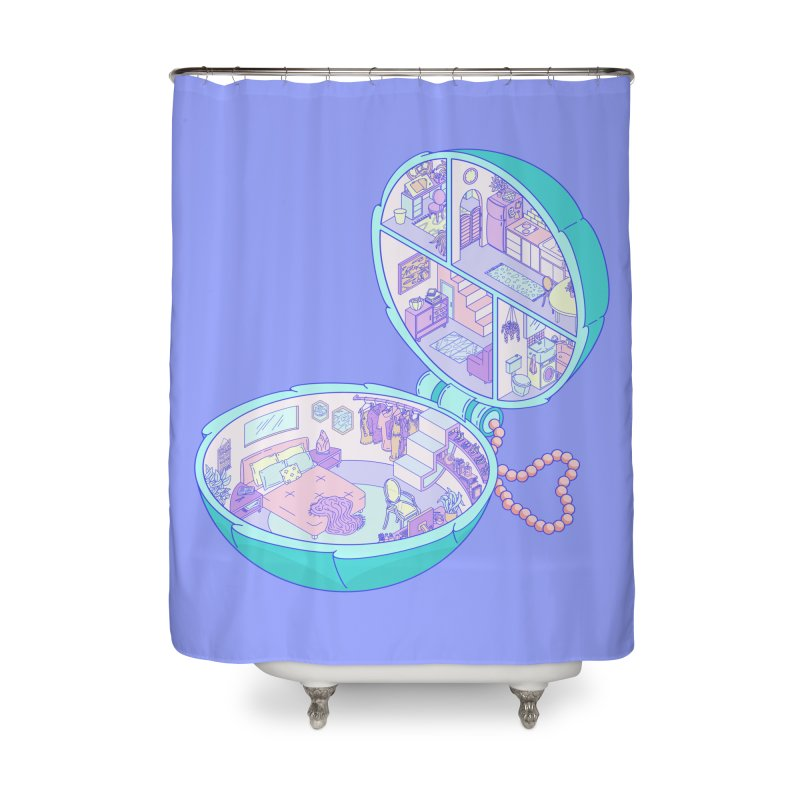 Tiny Haus Home Shower Curtain by Laura OConnor