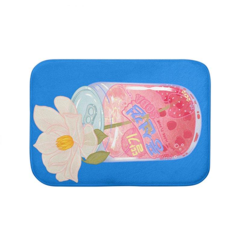 Strawberry Bubblegum Home Bath Mat by Laura OConnor