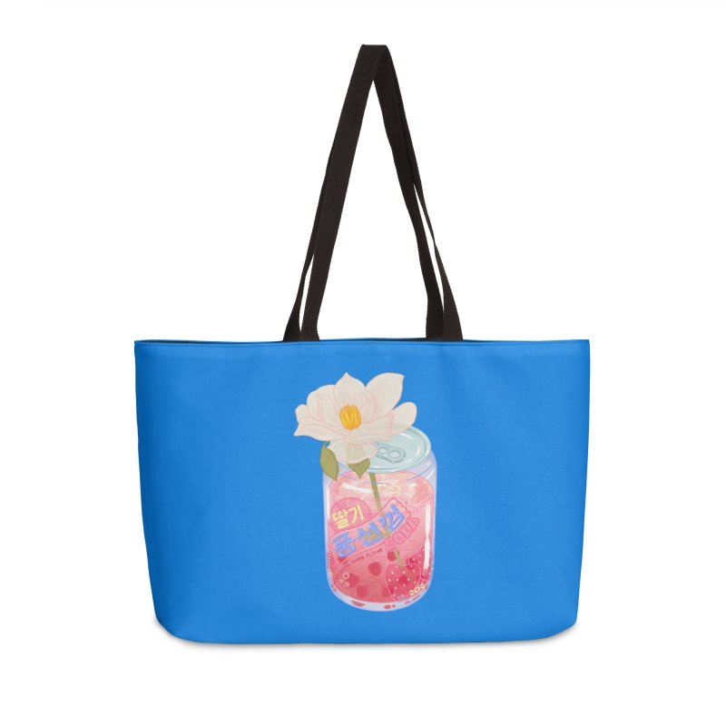 Strawberry Bubblegum Accessories Bag by Laura OConnor