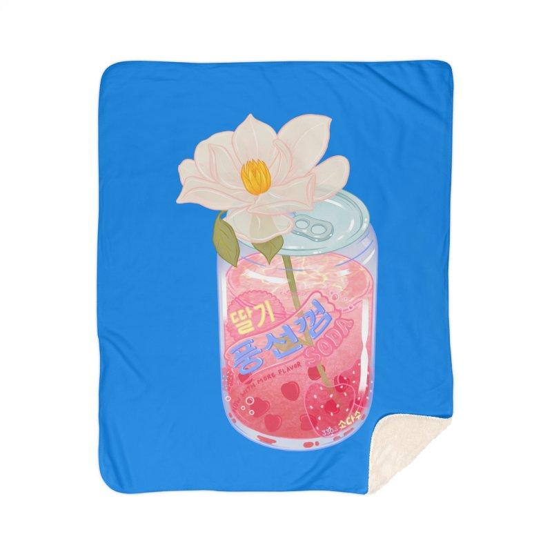Strawberry Bubblegum Home Blanket by Laura OConnor