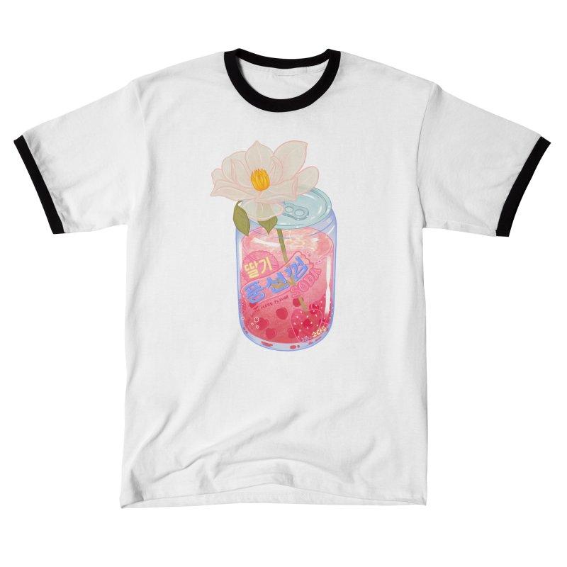 Strawberry Bubblegum Men's T-Shirt by Laura OConnor