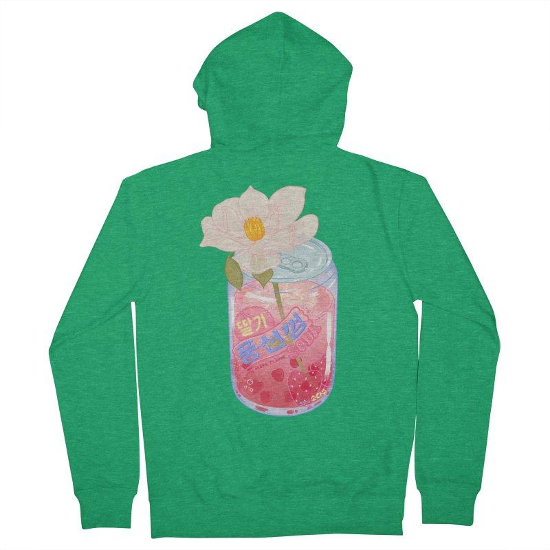Strawberry Bubblegum Women's Zip-Up Hoody by Laura OConnor