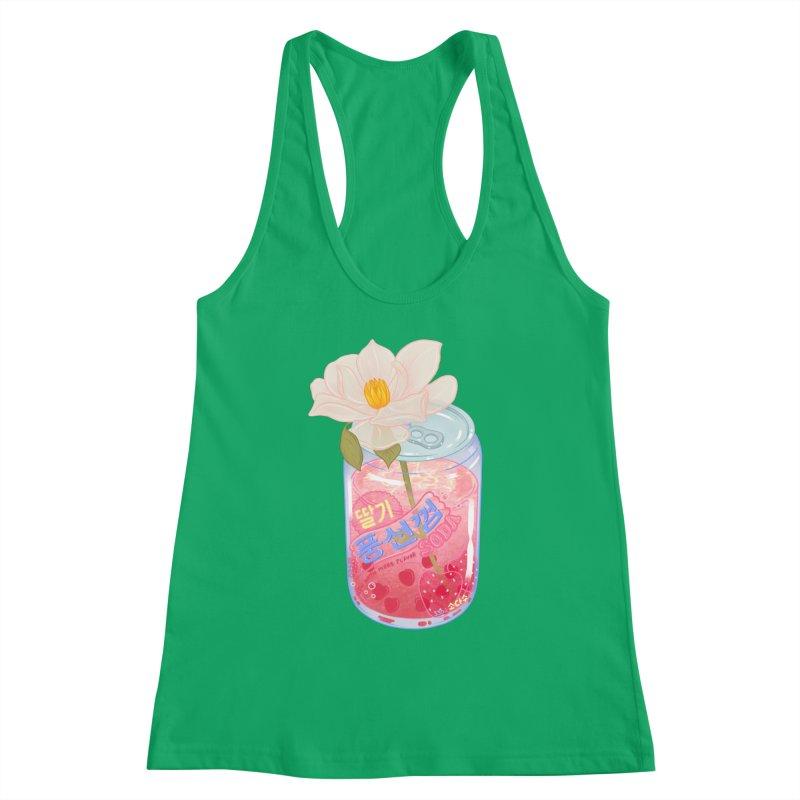 Strawberry Bubblegum Women's Tank by Laura OConnor